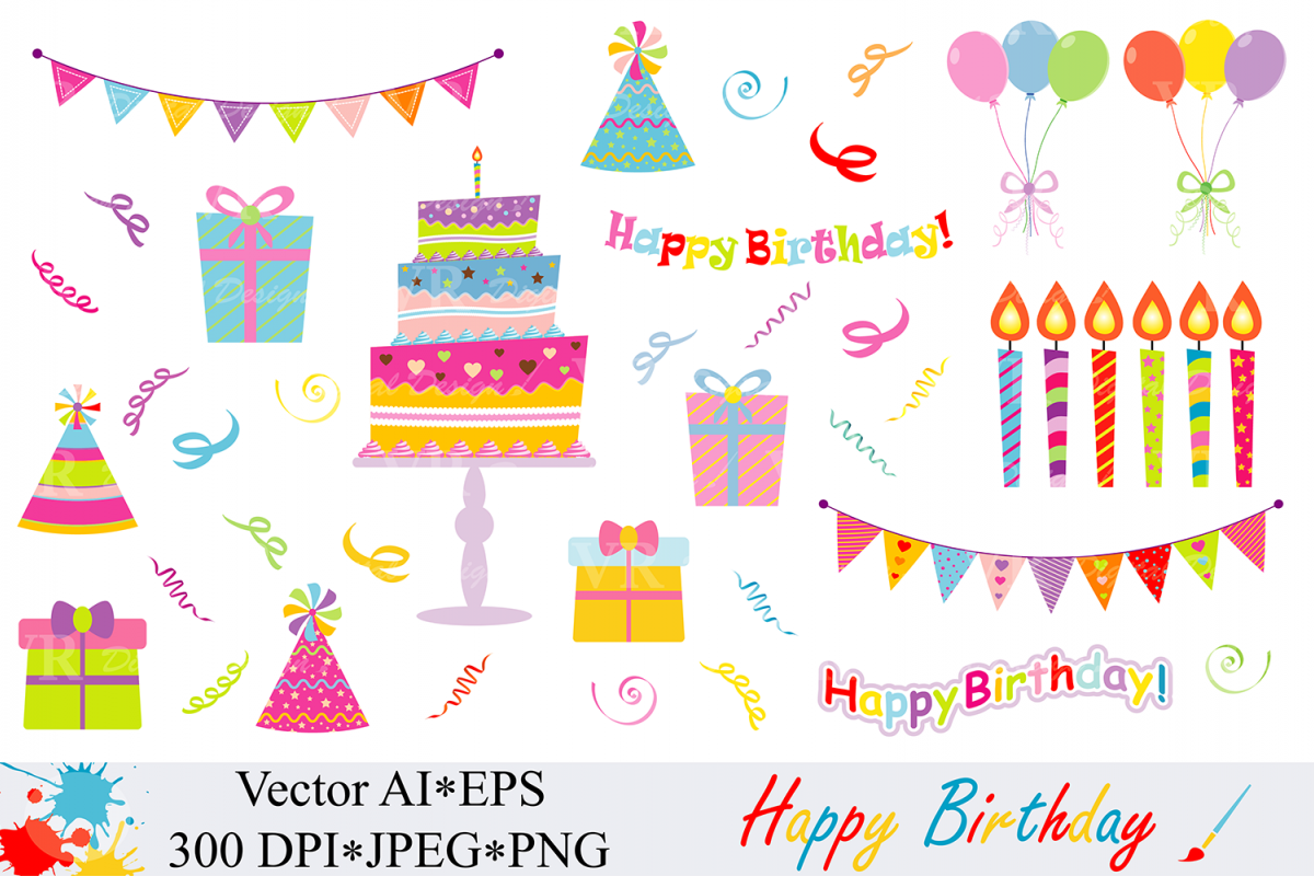 Birthday Clipart Vector Birthday Vector Transparent Free