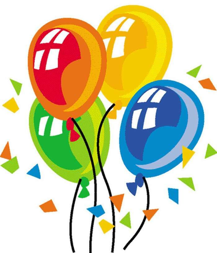 Free birthday happy clip. Celebrate clipart bday