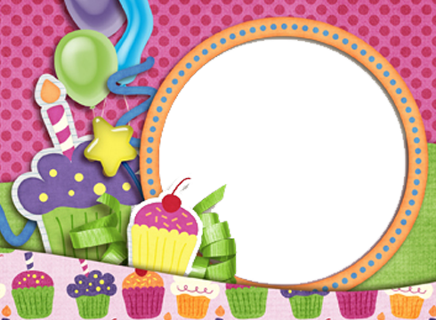 Collage transparent images all. Birthday frame png