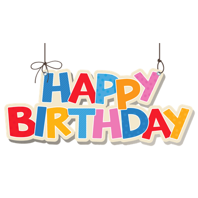 Birthdays transparent page stickpng. Birthday images png