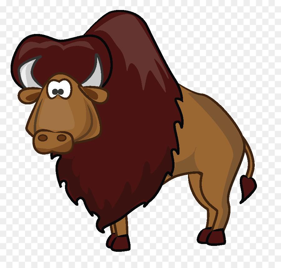 Cartoon clip art buffalo. Bison clipart american bison