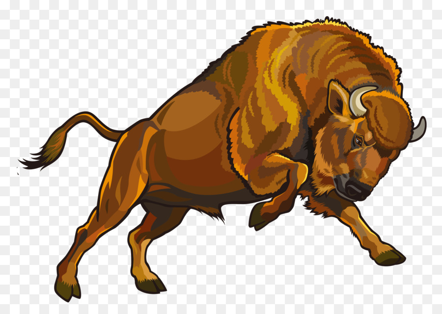 Bison clipart angry. Graphic design clip art