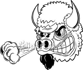 Com school edition demo. Bison clipart angry