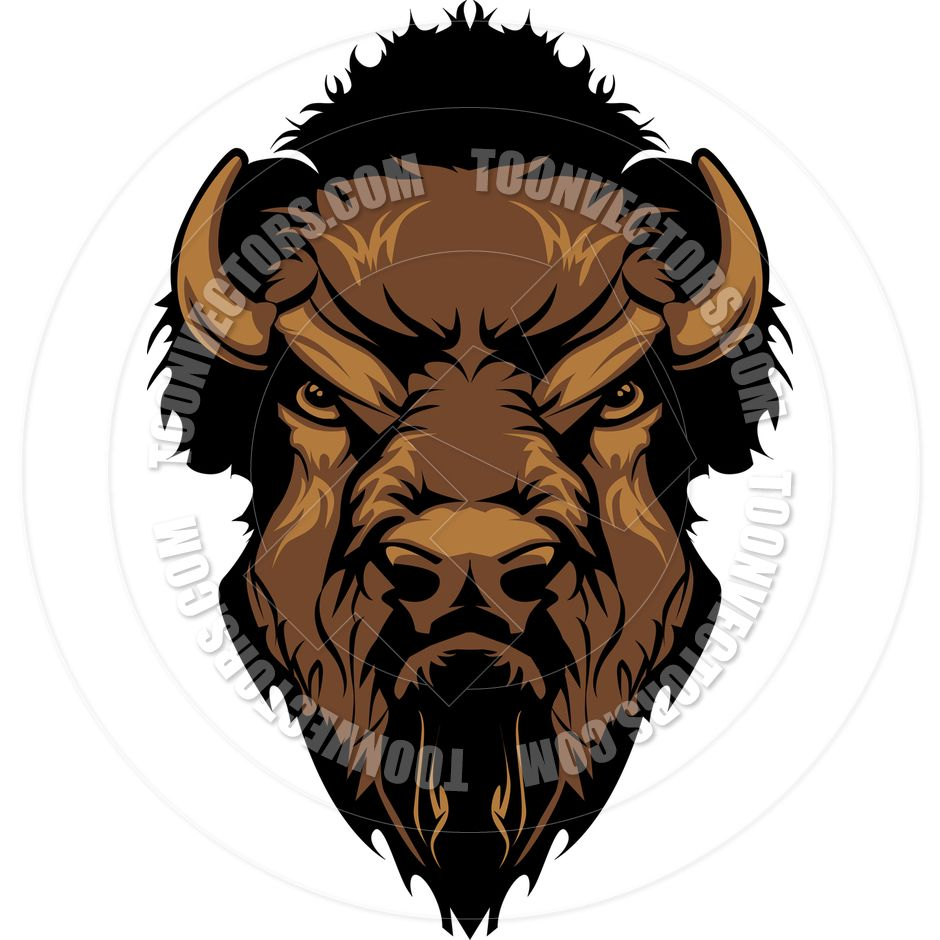 Buffalo clip art images. Bison clipart angry