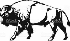 Bison clipart angry. Buffalo head animal clip