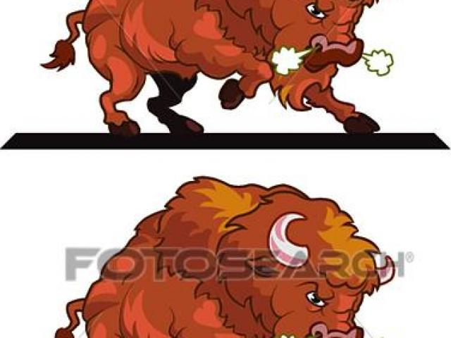 Bison clipart angry. X free clip art