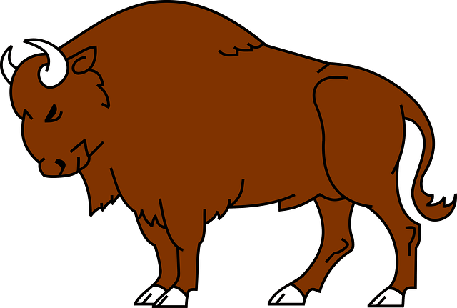 Cartoon cliparts zone . Bison clipart animated