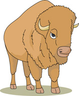 Bison clipart animated. Free buffalo clip art