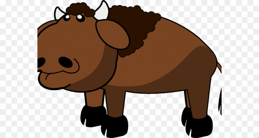 Cartoon png american download. Bison clipart animated