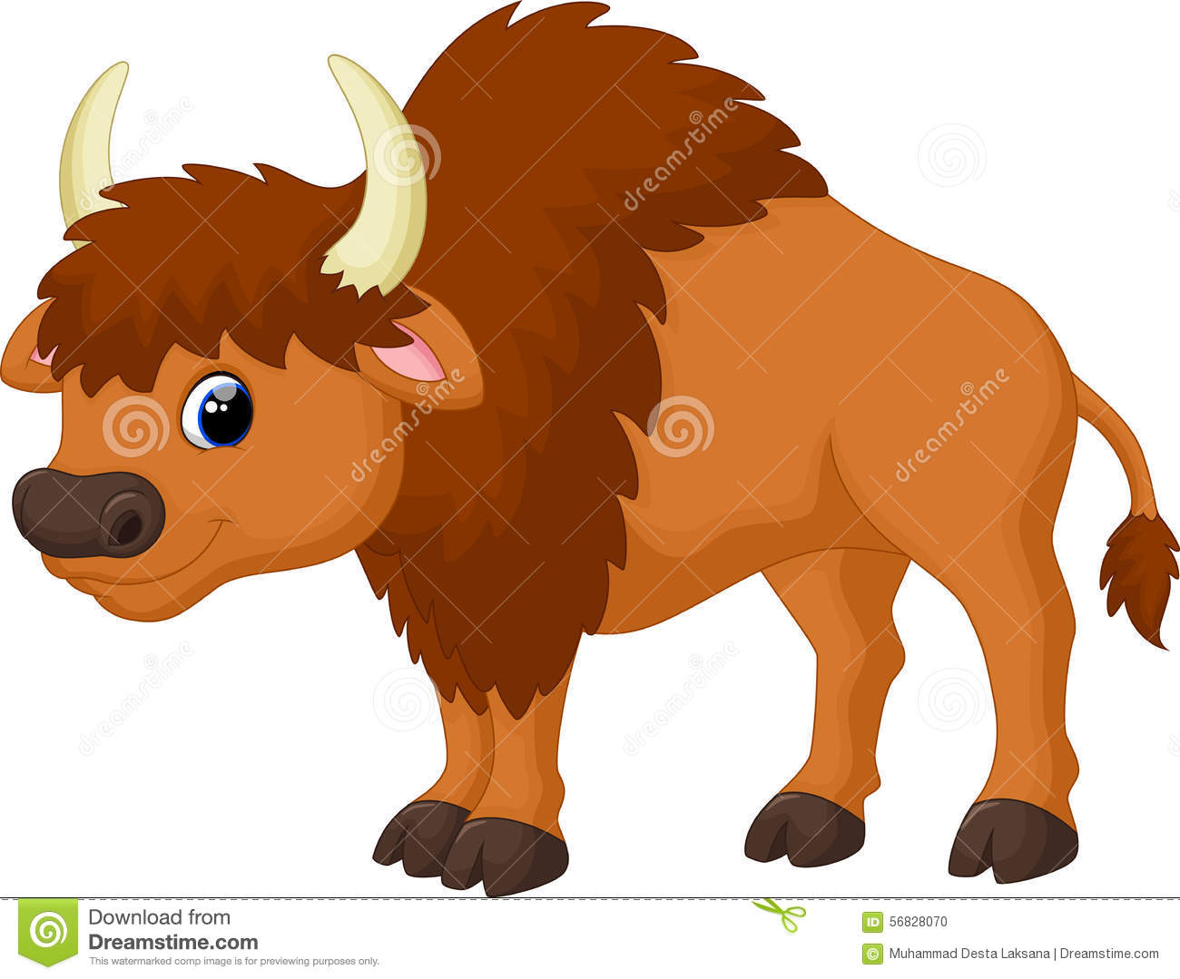 Bison clipart animated. Cartoon buffalo free download