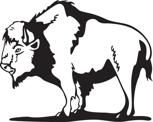 Free cliparts download clip. Bison clipart black and white