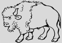 Bison clipart black and white. Best army clip art
