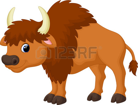 . Bison clipart black and white