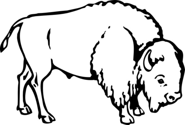 M custom vinyl stickers. Bison clipart black and white