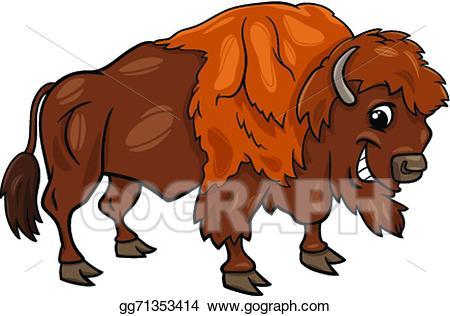 Eps vector american buffalo. Bison clipart bufallo