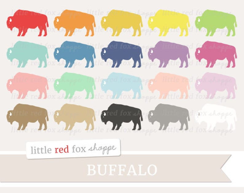 Clip art animal tribal. Bison clipart buffalo herd