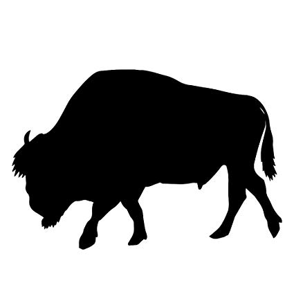 Amazon com vinyl sticker. Bison clipart buffalo silhouette
