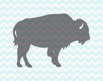 Bison clipart buffalo silhouette. Etsy svg and png