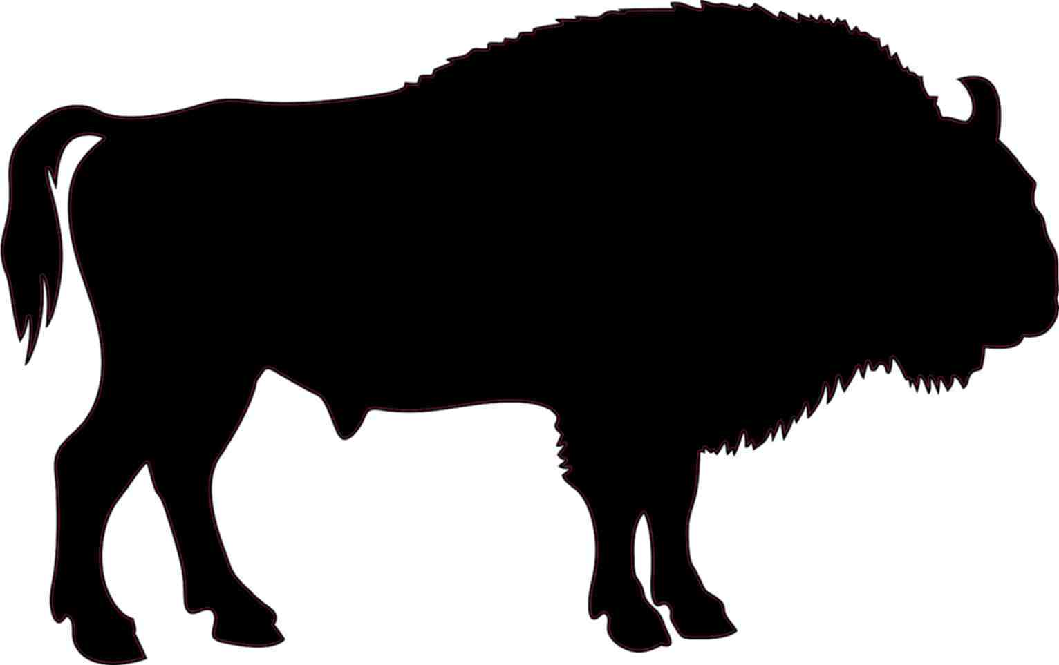 Images at getdrawings com. Bison clipart buffalo silhouette
