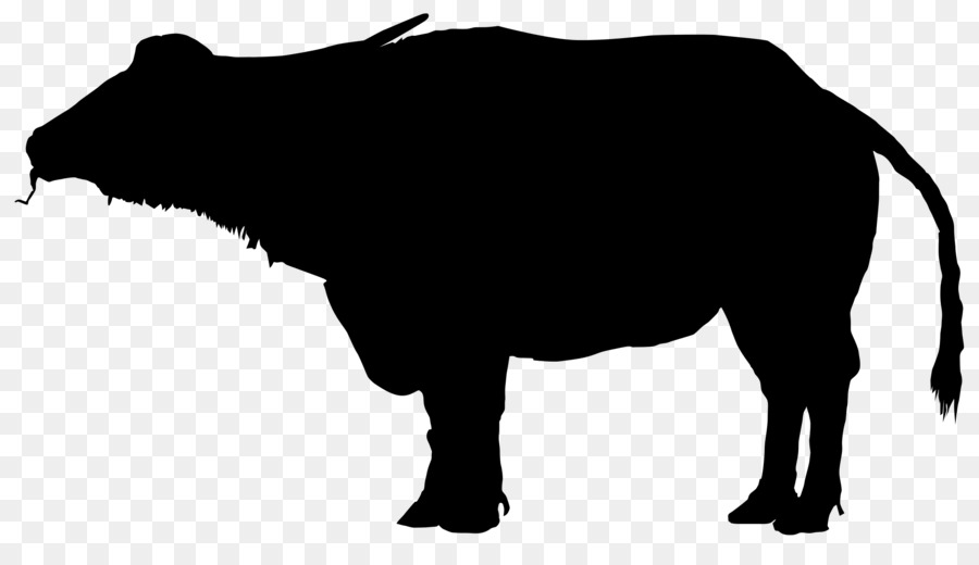 Bison clipart buffalo silhouette. Water clip art png