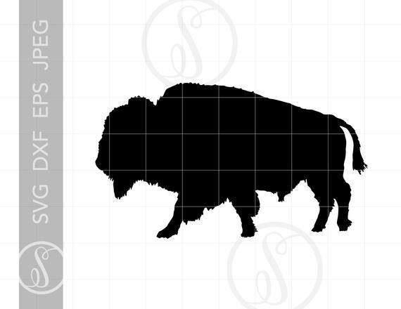 Bison clipart buffalo silhouette. Svg cut file full