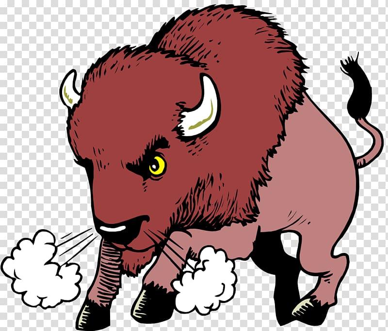 Bison clipart cartoon. Water buffalo american transparent