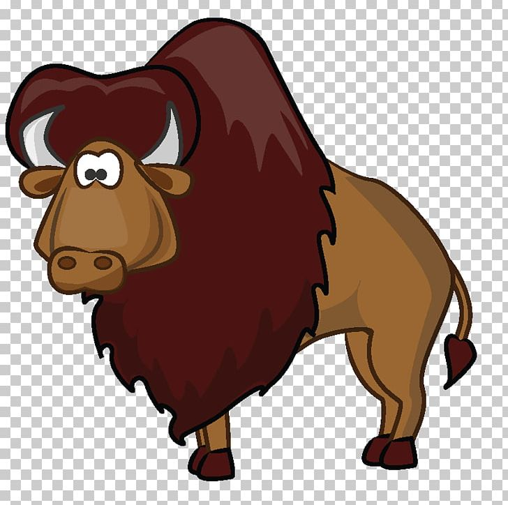American png art . Bison clipart cartoon