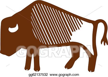 Bison clipart clip art. Eps illustration vector gg