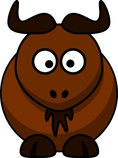 Funny duck cartoon anime. Bison clipart cute