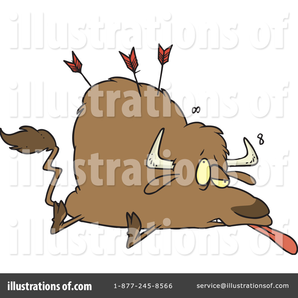Bison clipart dead. Buffalo illustration by toonaday