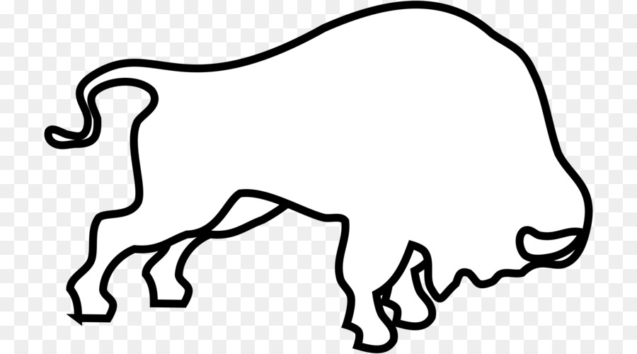 Bison clipart drawing. Black line background graphics