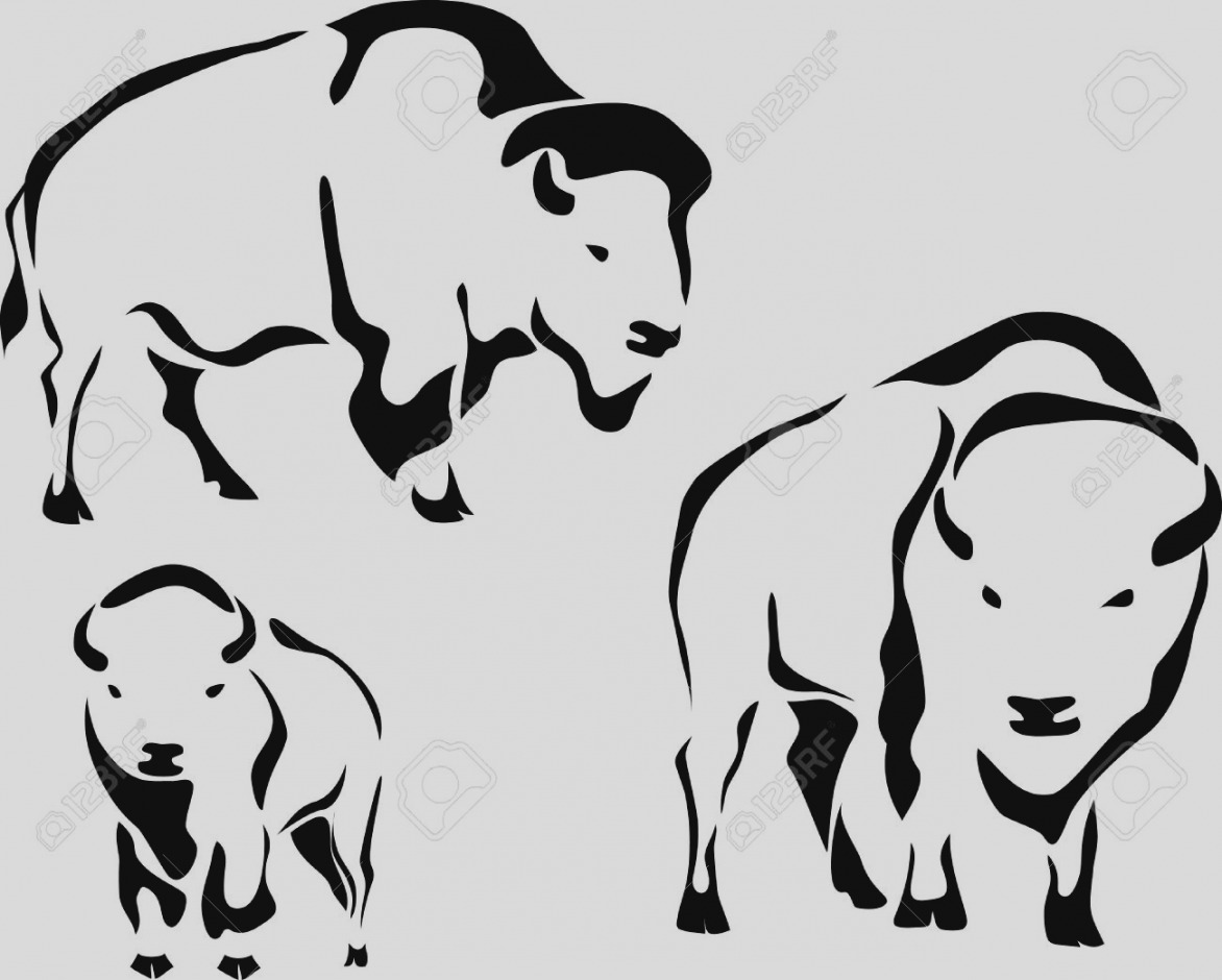 Bison clipart drawing. Gallery of clip art