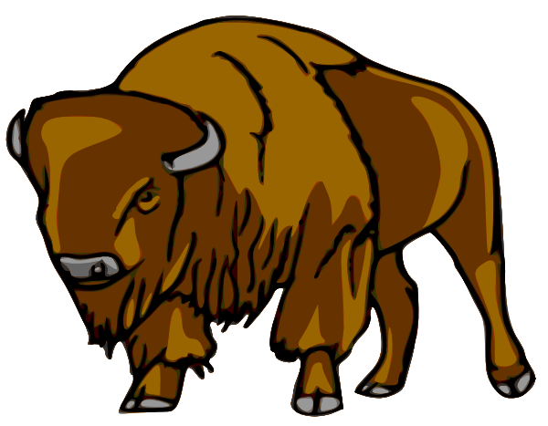 Right clip art at. Bison clipart drawing