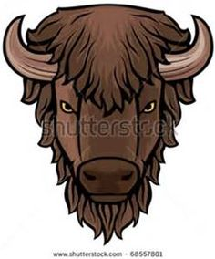 Buffalo head animal clip. Bison clipart face