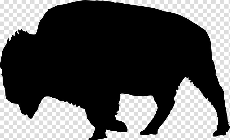 American silhouette drawing transparent. Bison clipart face