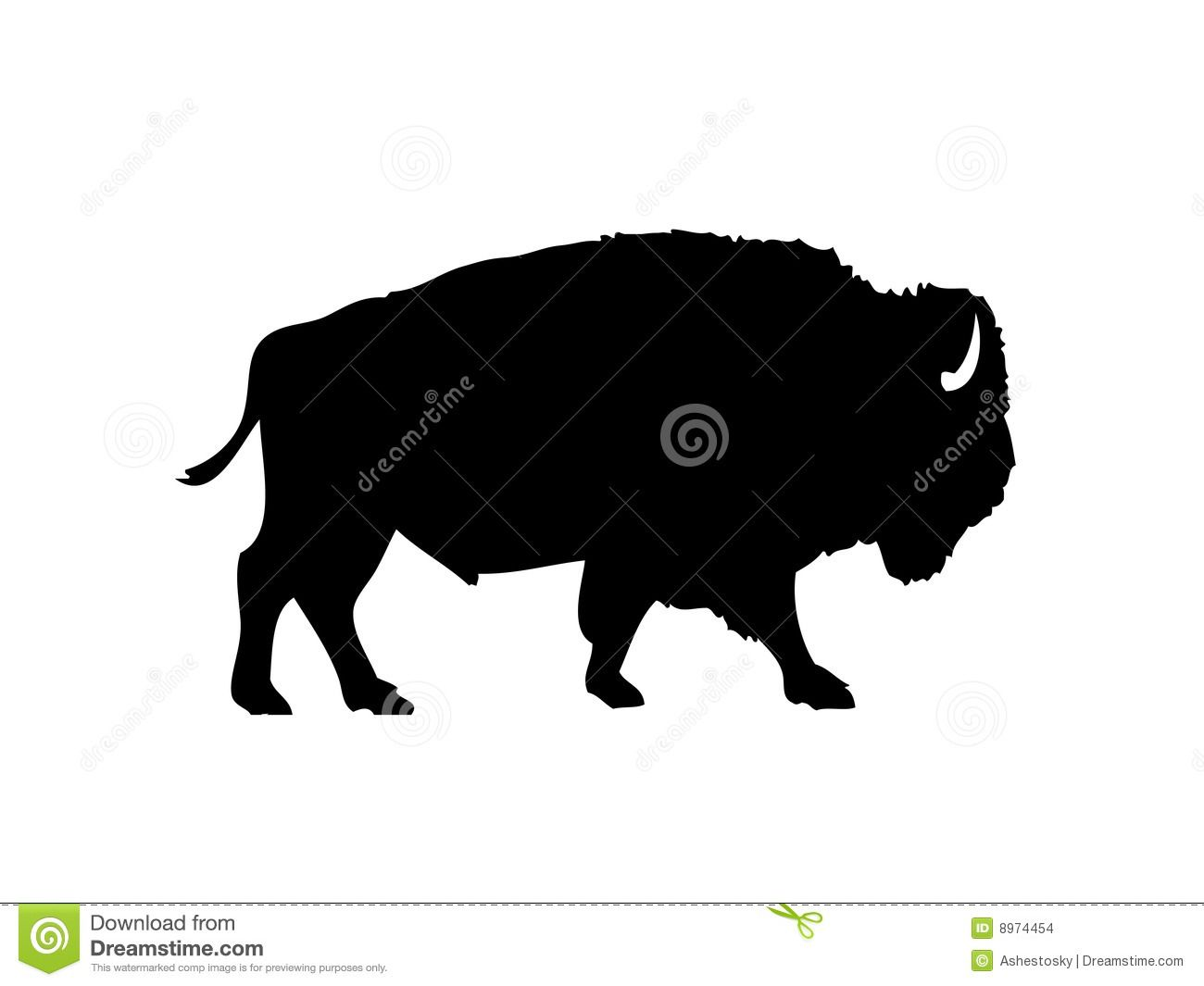Bison clipart female buffalo. American vector silhouette download