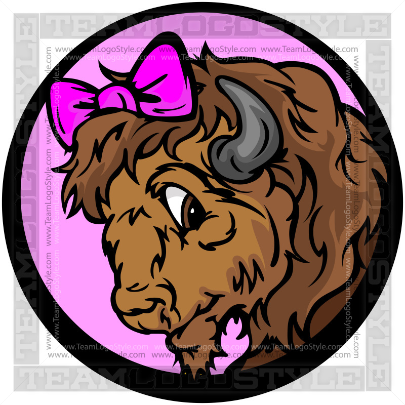 Clip art vector lady. Bison clipart female buffalo