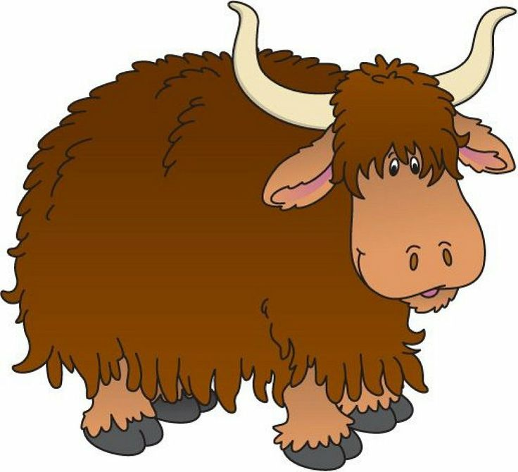 Bison clipart kawaii.  best zvierat images