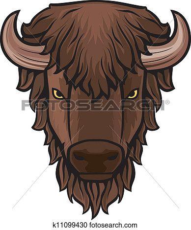 Buffalo clipart. Head clip art view