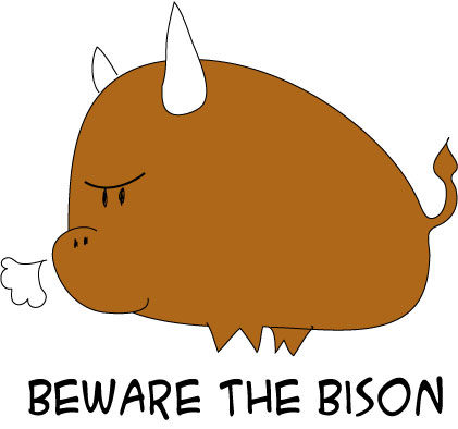 Bison clipart kawaii. Cute little by sakanajanai
