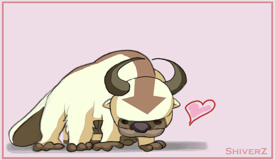 Bison clipart kawaii. Appa by shiverz on