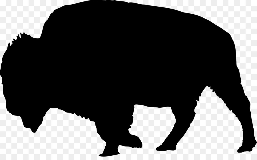 Bison clipart kid. Buffalo silhouette clip art