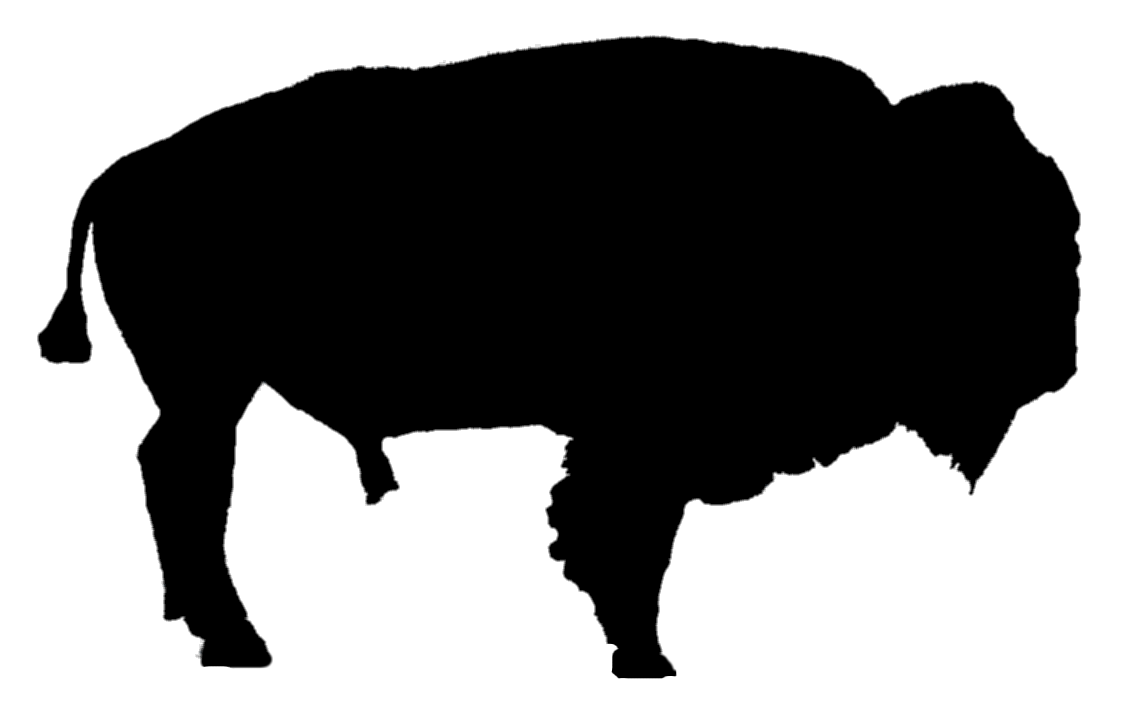 Buffalo silhouette free download. Bison clipart kid