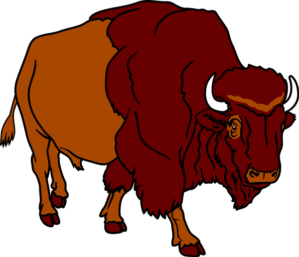 Bison clipart mascot. Signspecialist com mascots decals