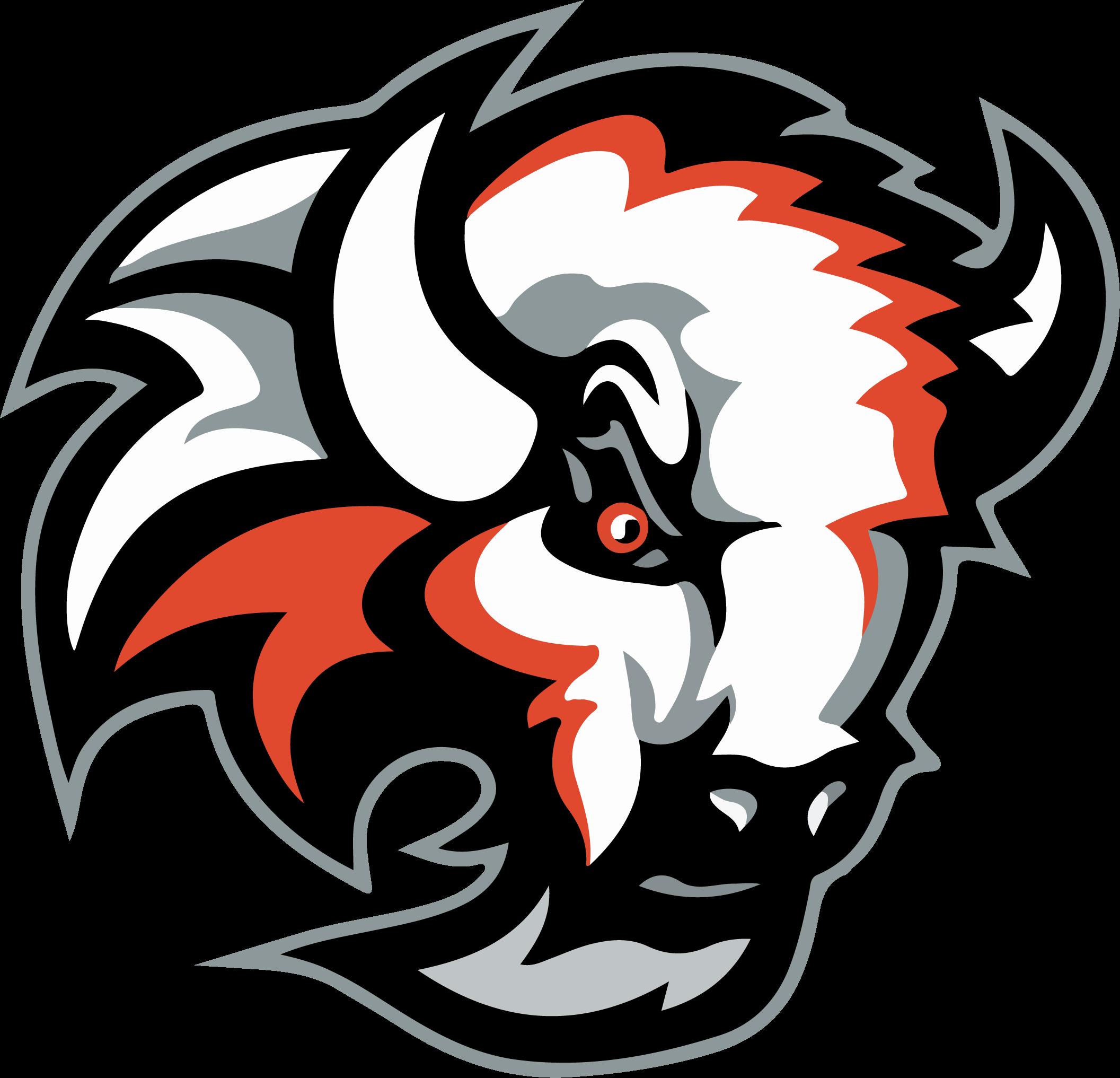 Mccook high school . Bison clipart mascot