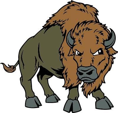 Buffalo kid clipartix. Bison clipart mascot