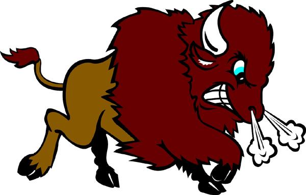 Signspecialist com mascots decals. Bison clipart mascot