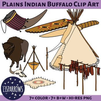Bison clipart plains indians. Buffalo clip art and