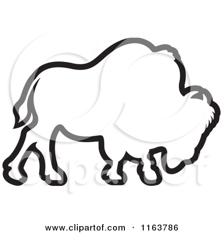 Of an outlined panda. Bison clipart simple