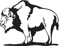 Bison clipart simple. Tribal buffalo head cross